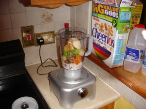 Smoothie in mixer